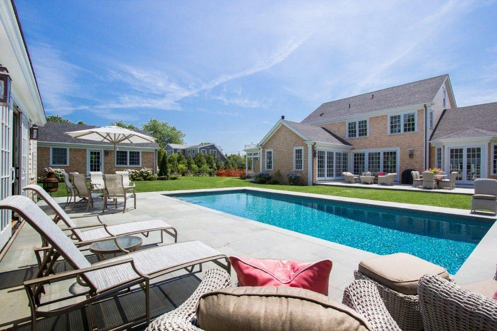 Edgartown Home Rental - SULLS. Backyard pool area.
