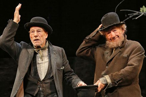 Sir Patrick Stewart and Sir Ian McKellan — Waiting for Godot, No Man's Land | The 34 Hottest Broadway Hunks Of 2013