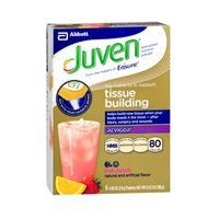 Juven Fruit Punch 8 pckts by Juven. $30.88. Key nutrients to support tissue building. Glutamine is an amino acid that helps cells produce the building blocks needed for new tissue. RevigorTM helps produce new tissue by slowing muscle breakdown and enhancing protein synthesis. Helps build new tissue when your body needs it the most - after injury, surgery and wounds. Arginine is an amino acid that promotes nutrient rich blood flow and is a building block for pro...
