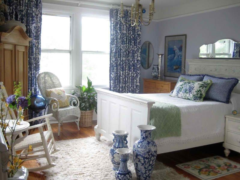Hendersonville NC master bedroom in an 1898 restored farmhouse