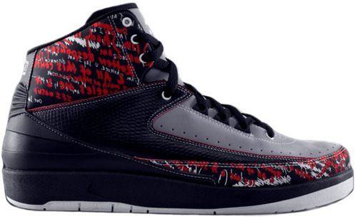 Air Jordan 2 (II) Retro Eminem The Way I Am Black Stealth Varsity Red This  site sells Air Jordan shoes half off!