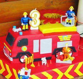 feuerwehrmann sam torte fondant deko birthday cake fireman sam und cake. Black Bedroom Furniture Sets. Home Design Ideas