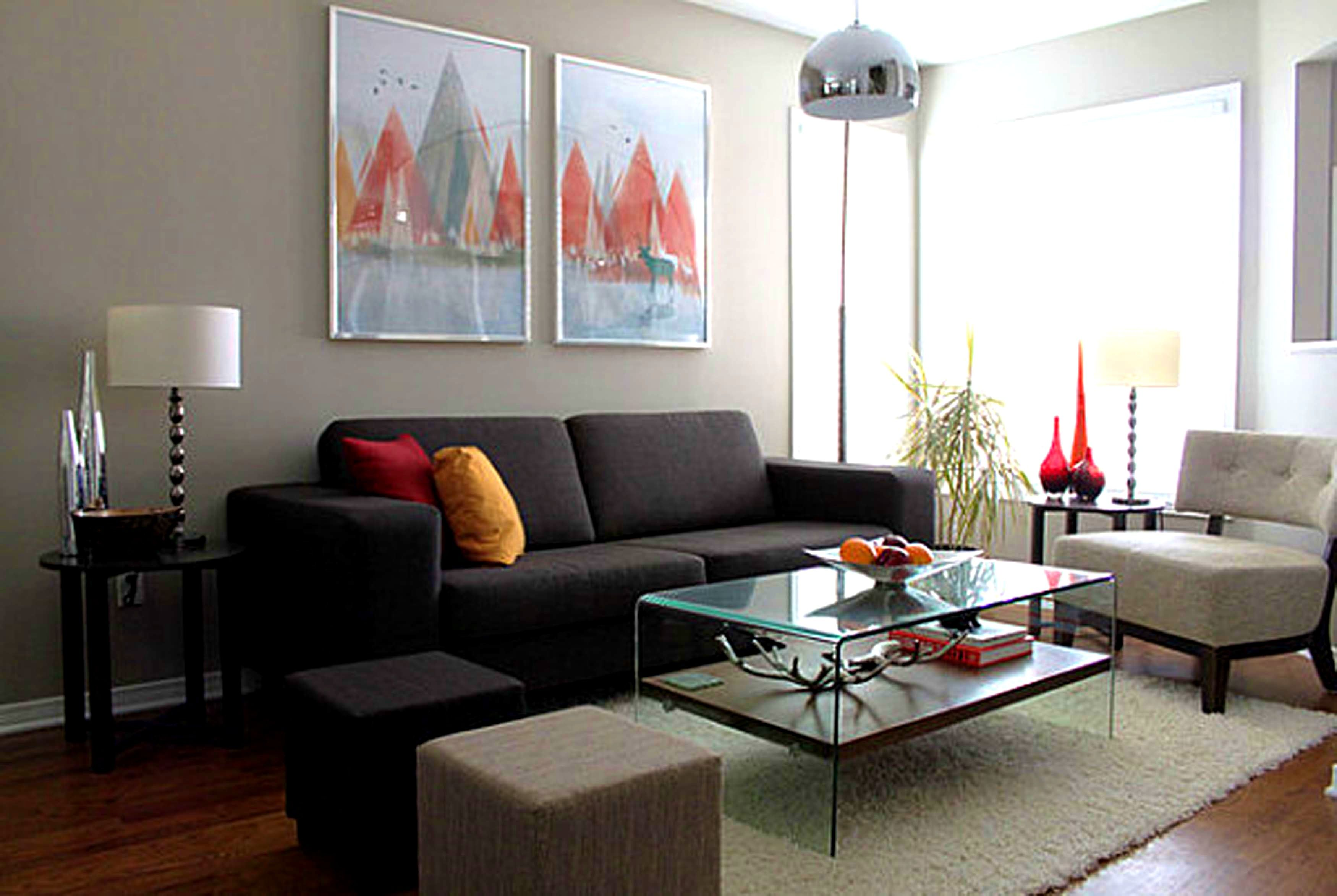 furniture pleasant brown and grey living room walls leather