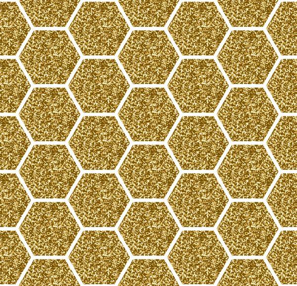 hexagon pattern golden pattern vector