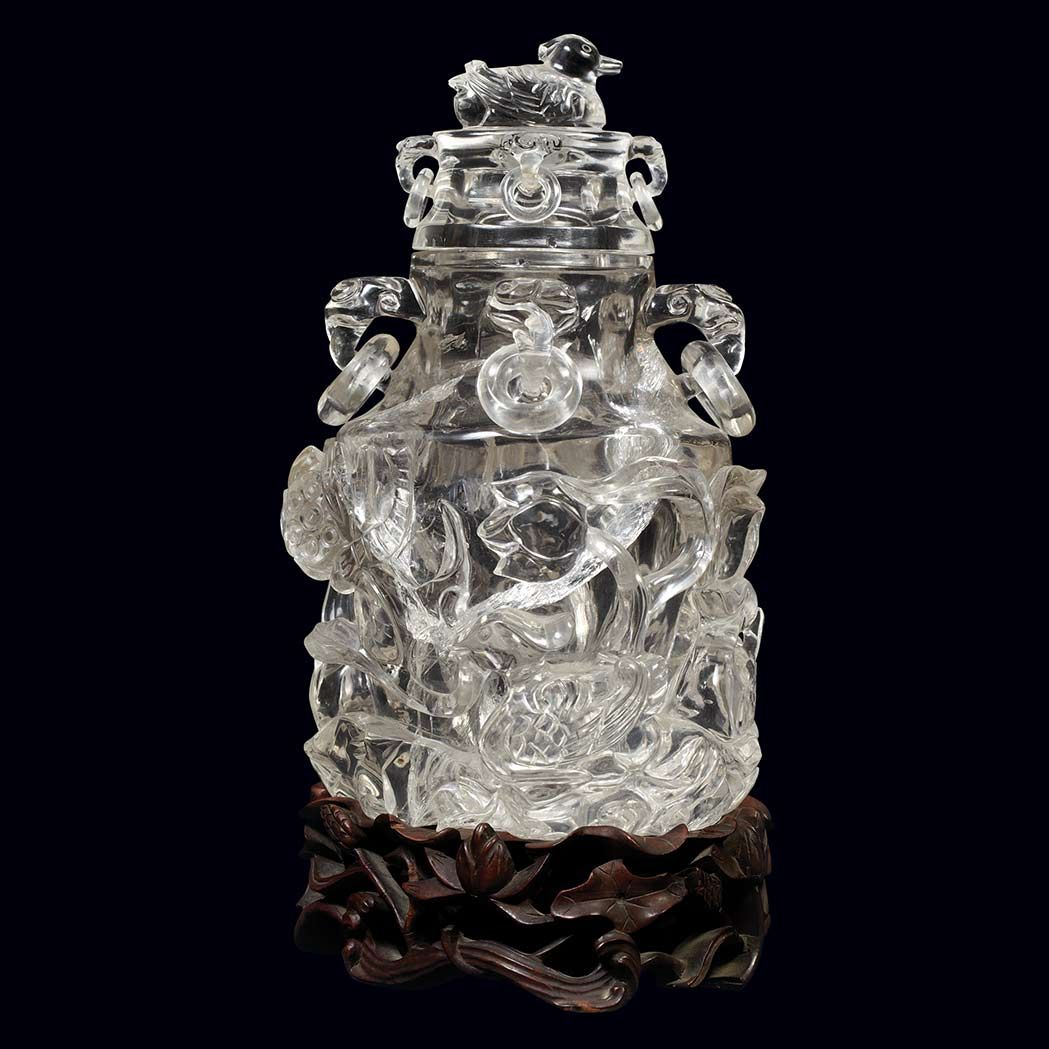 Chinese rock crystal covered vase late qing dynasty qing dynasty chinese rock crystal covered vase late qing dynasty reviewsmspy