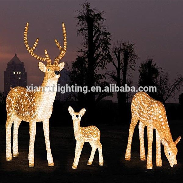 led acrylic lighting outdoor led deer christmas reindeer light acrylic christmas led 3d figures - Outside Reindeer Christmas Decorations