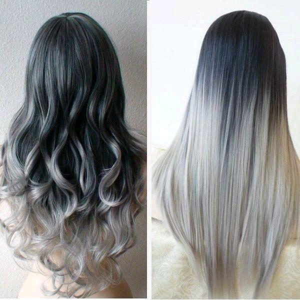 Cabello en gris