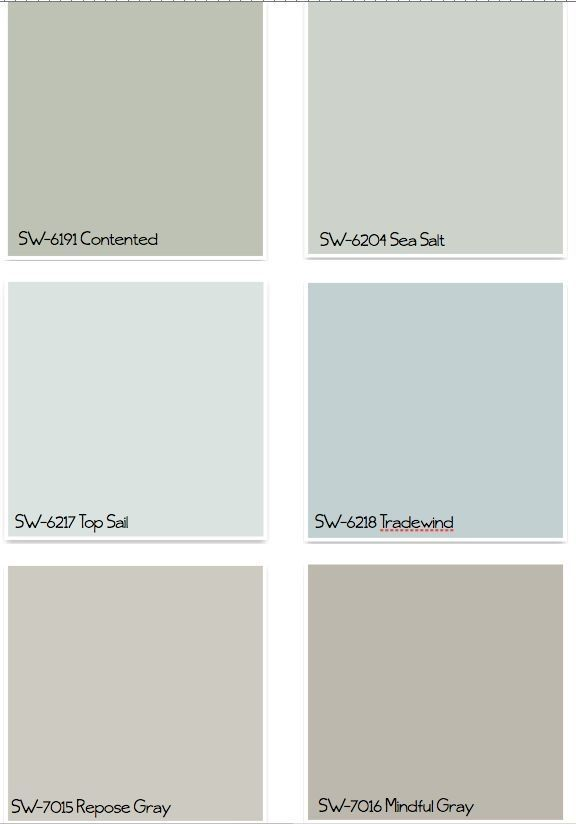 Sherwin Williams Paint Colors by Susz