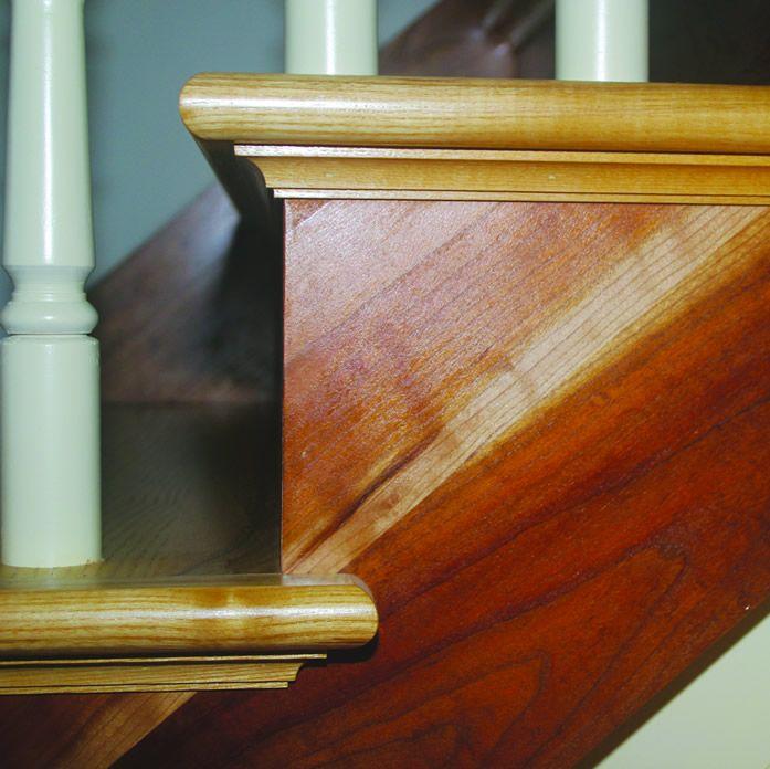 Moulding Detail Under Stair Tread.