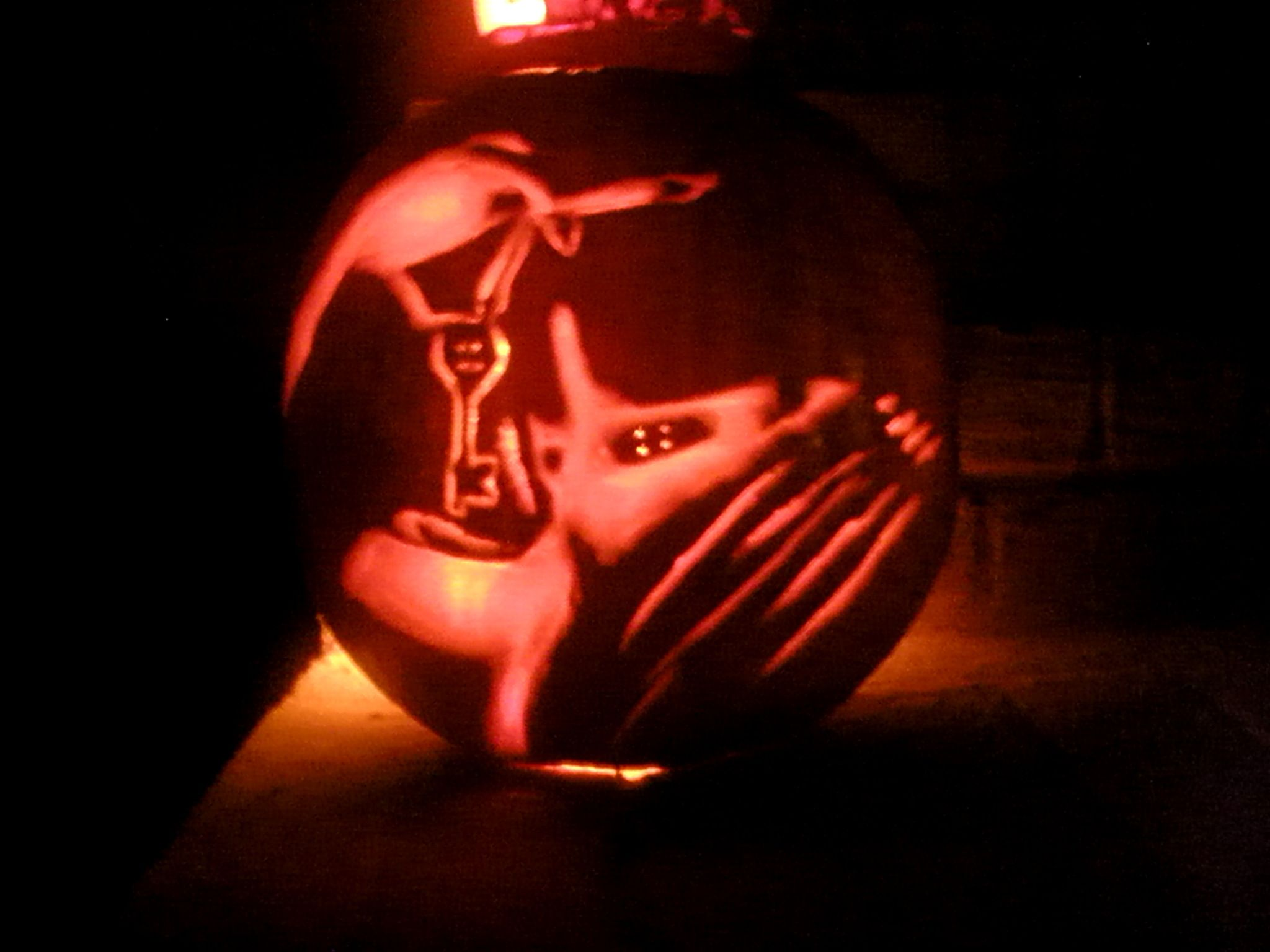 Coraline, the other mother, Coraline pumpkin. Carved by Jocelyn ...