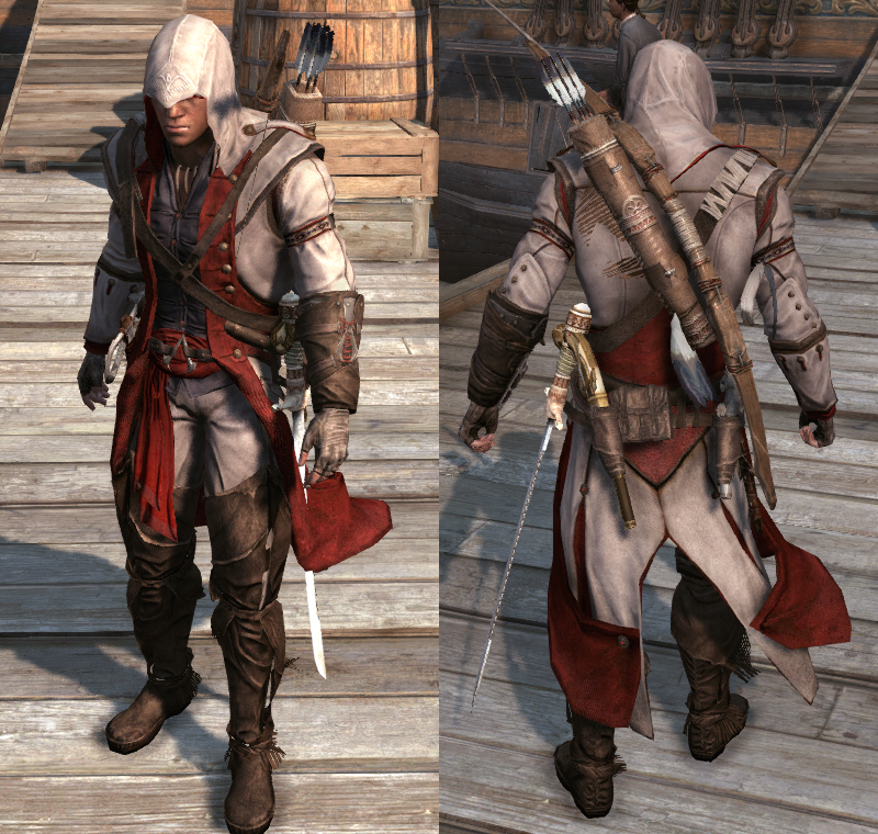 Assassin S Creed 3 Ratonhnhake Ton Traditional Assassin Colors
