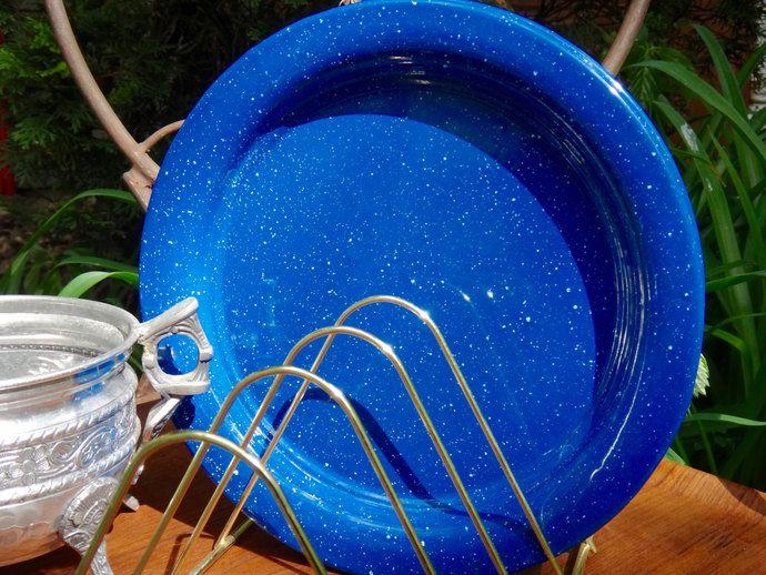 Enamel Plates Plate Set Enamel Metal Plates Blue Plates Blue Speckled & Enamel Plates Plate Set Enamel Metal Plates Blue Plates Blue ...