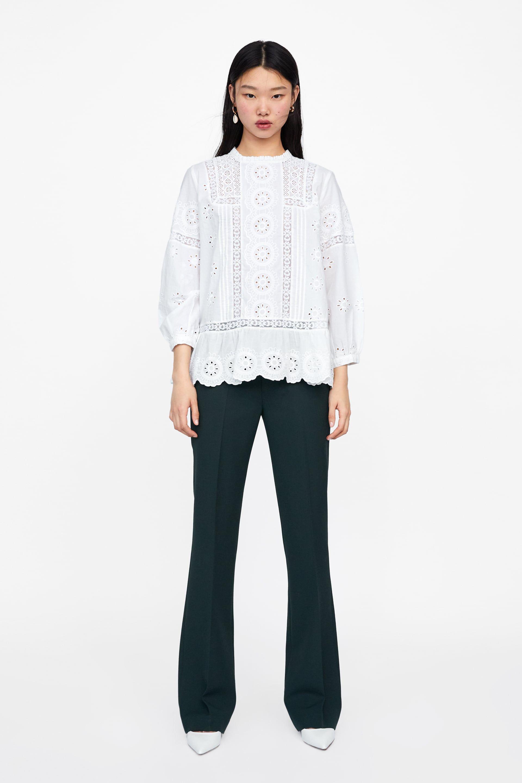5a41ae37 BLUSA PERFORADOS BORDADOS in 2019 | HAF | Blouse, Shirt blouses ...
