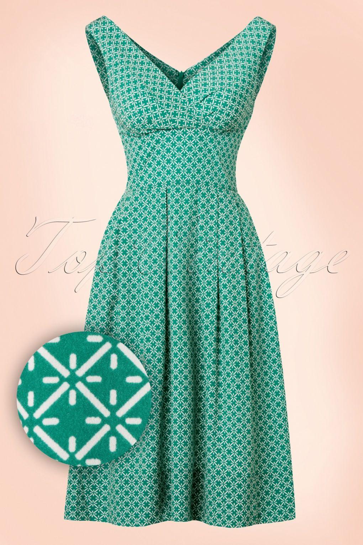 60s green dress  This s Lilian Mosaic Dress is elegant feminine and playfulSexy