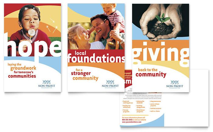 community non profit postcard download template http www