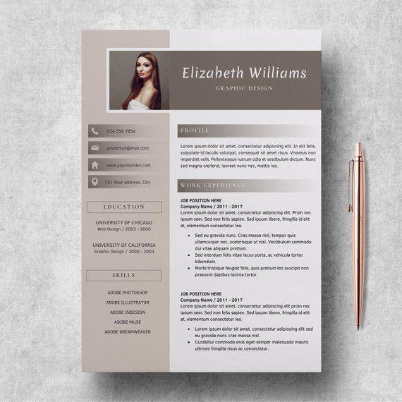 Resume Template For Word And Pages Cv Template Etsy Cv Kreatif Desain Cv Kreatif