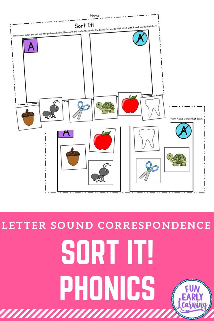 Sort It Letter Sound Correspondence Activity For Preschool And Kindergarten Teaching Letter Sounds Letter Sound Correspondence Letter Sounds Preschool [ 1102 x 735 Pixel ]