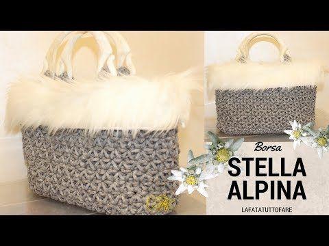 Tutorial Borsa In Cordino Lanato Stella Alpina Crochet Bag