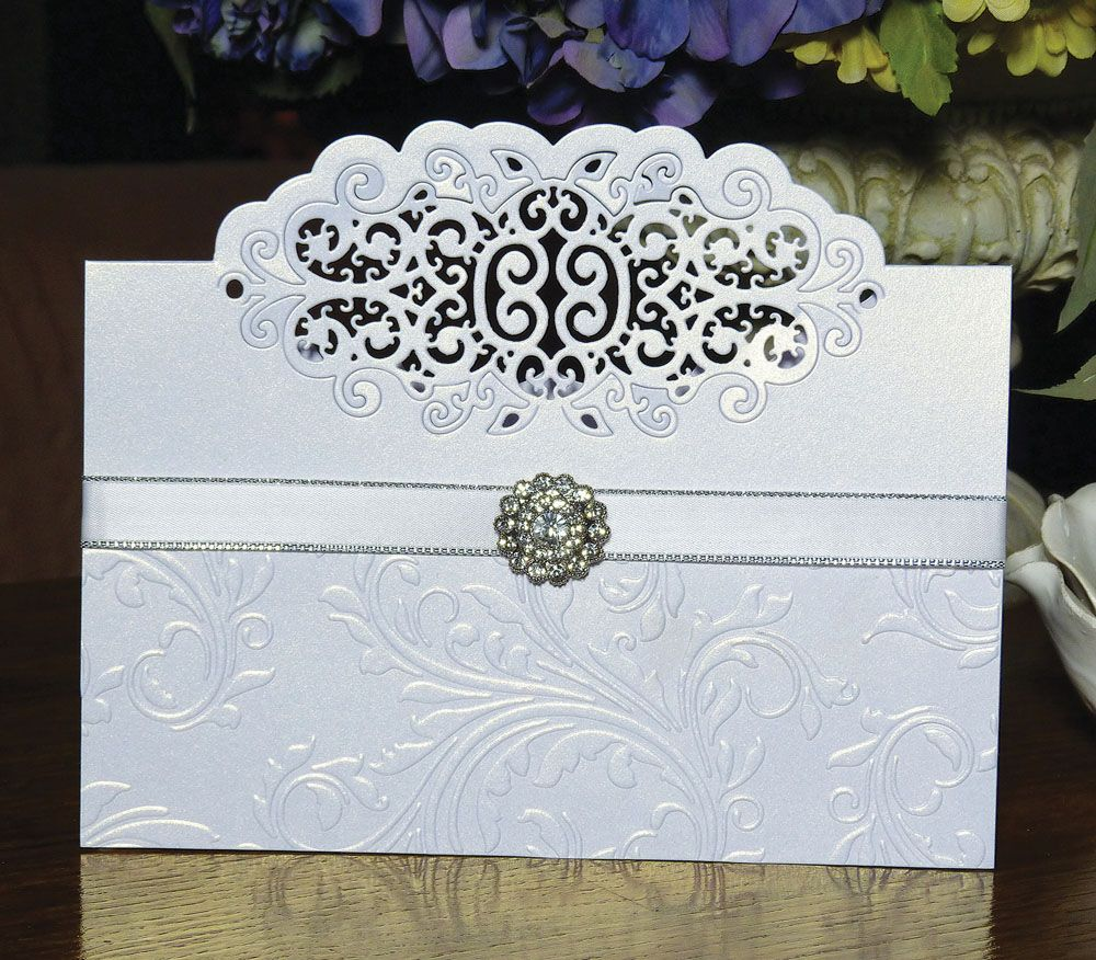 Lace Card Making Ideas Part - 42: Over The Edge Baroque (D186) U2013 Tattered Lace · Tattered Lace CardsCraft ...