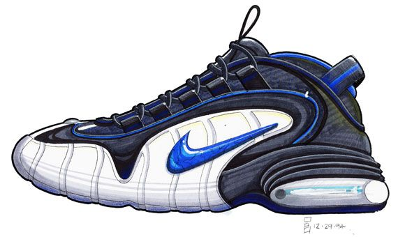 Nike Basketball 1992 2012 Air Penny (1995) | Cool Kicks
