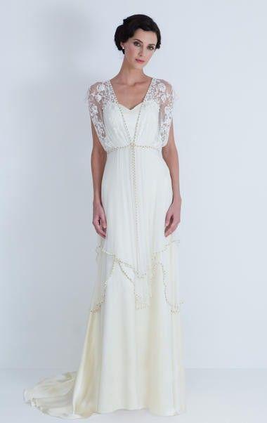 Vintage Wedding Dresses Champagne Chiffon
