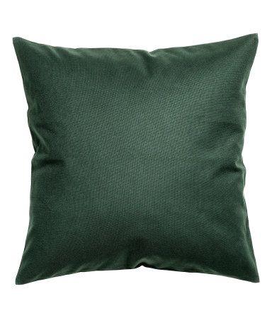 Tyynynpäällinen puuvillakanvaasia, piilovetoketju.