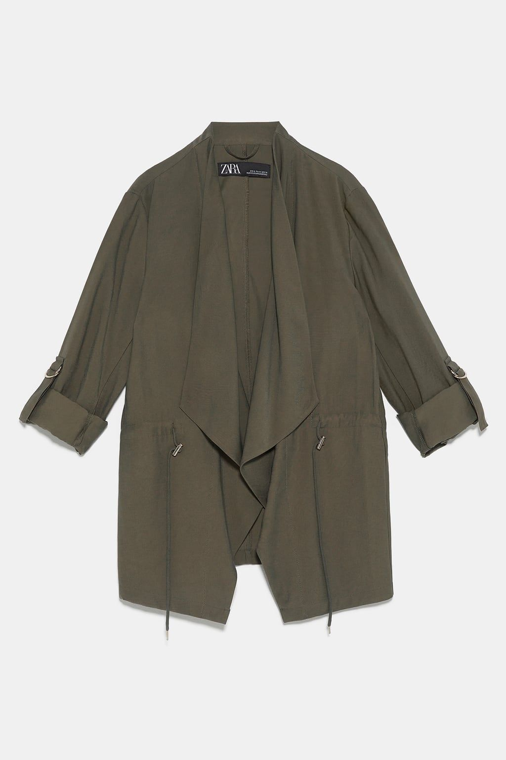 Image 5 Of Flowy Drawstring Jacket From Zara Jackets Drawstring Jacket Blazer Jackets For Women