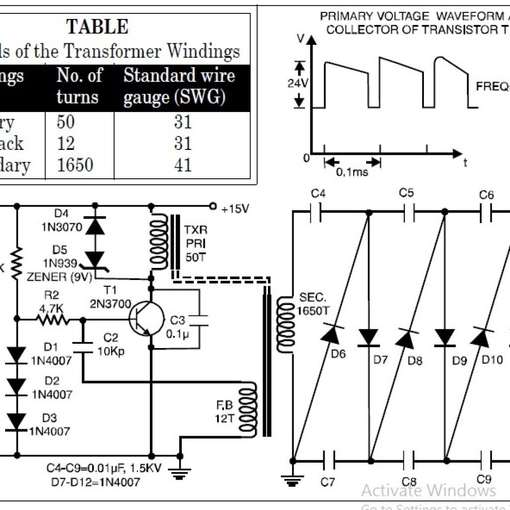 High Voltage Low Current Power Supply Vdc From 15vdc
