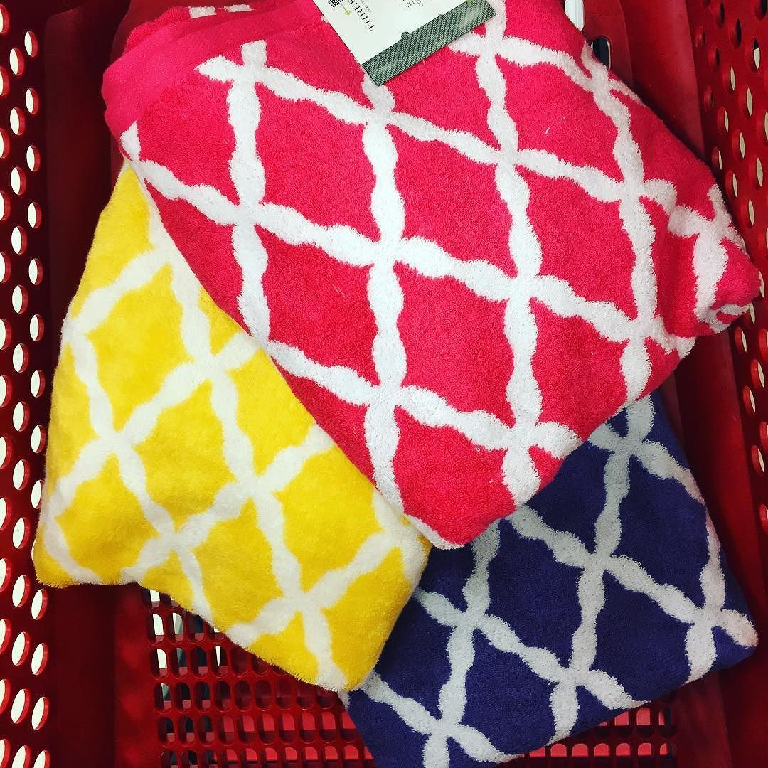 Love the #fun #vibrant #colors  of these Threshold #soft and #colorful #bath #towels . @target $7.99 each