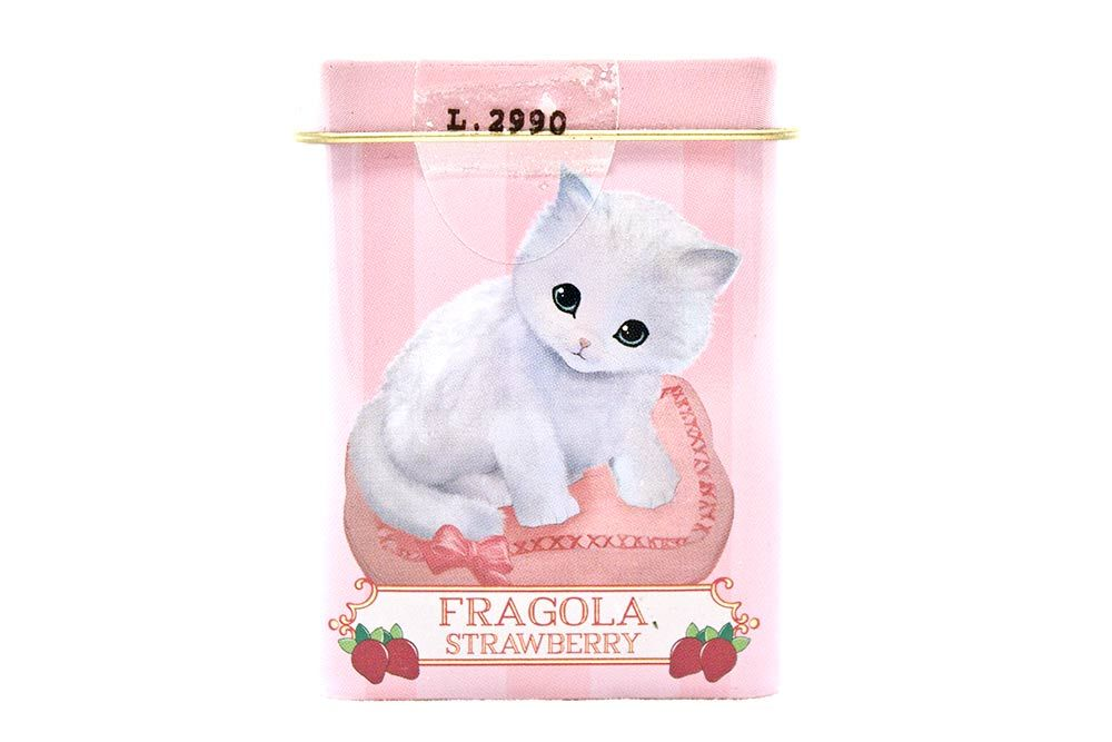 Leone Sweet Pets Tin Strawberry Pastille Candies Kitten Food Pets Strawberry