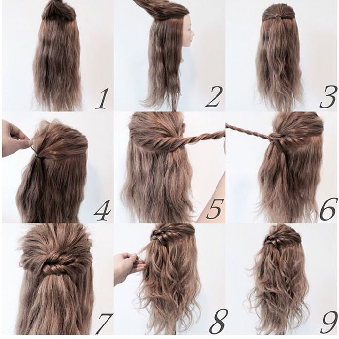 Easy Step By Step Hairstyle Tutorials For Medium Length Hair Hairstyles For Medium Length Hair Easy Hair Styles Hairstyles For Medium Length Hair Tutorial
