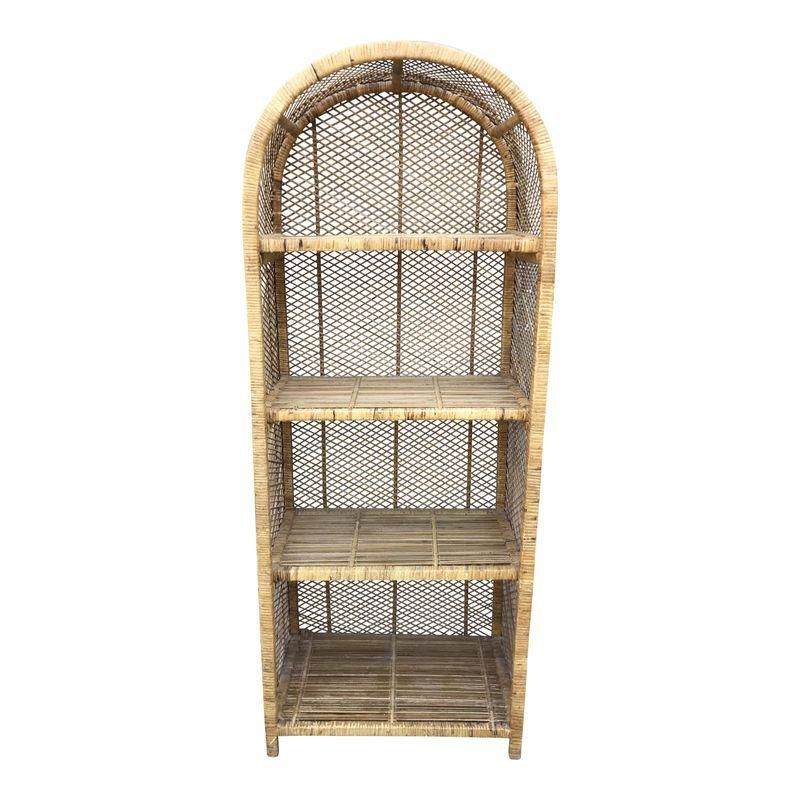 Vintage Rattan Shelf Bookcase Etagere In 2019 Home Decor