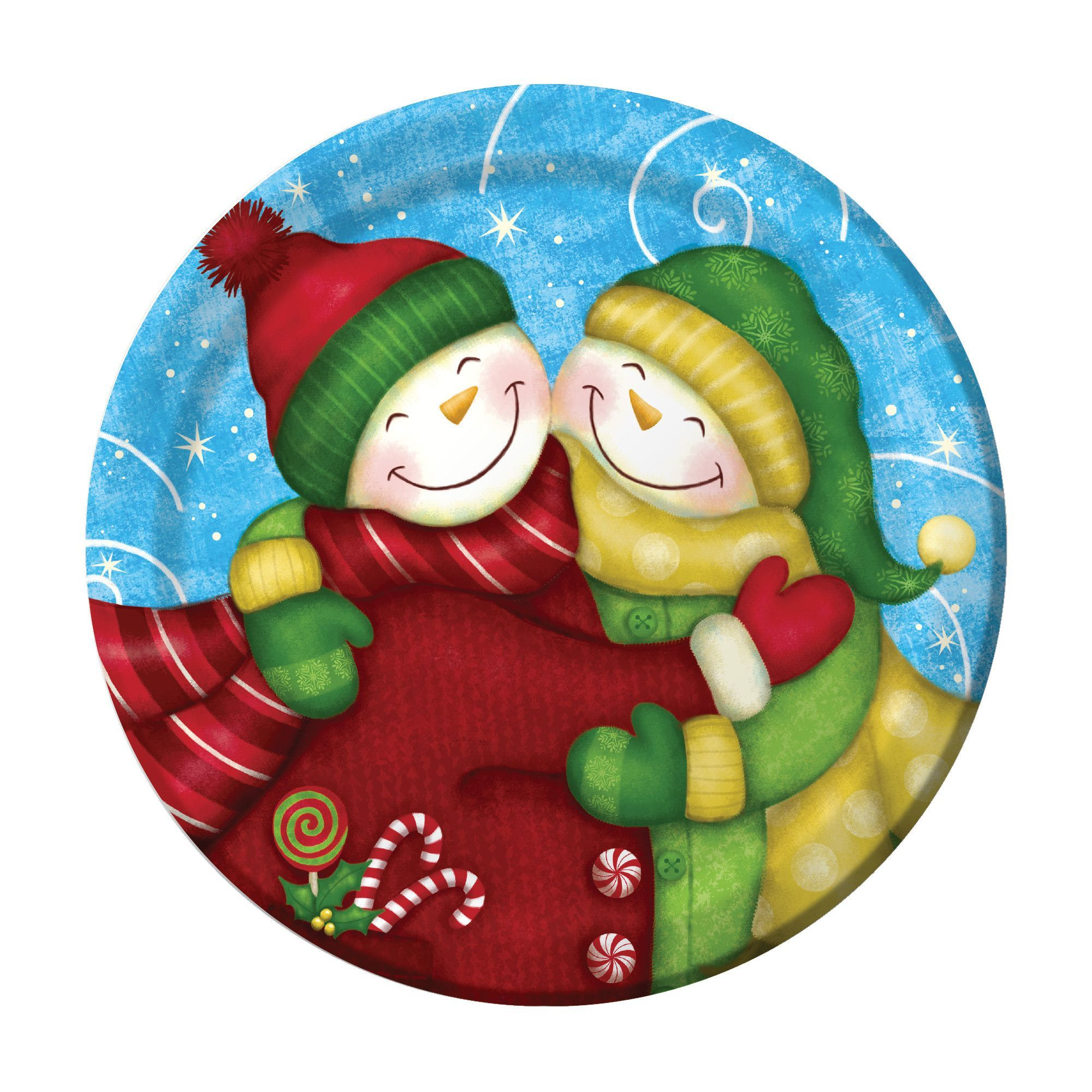 Wintertime Greetings 7 Inch Lunch Plates/Case of 96