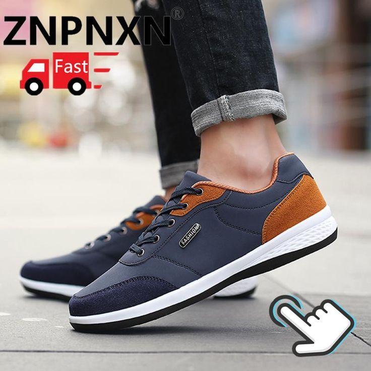Znpnxn Pria S Sneakers Kasual Bernapas Sepatu Olahraga Pria