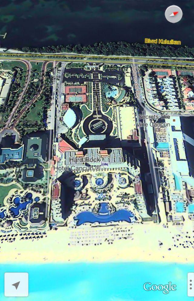 Feb 2013 Hard Rock Hotel Cancun Mexico Cancun Map
