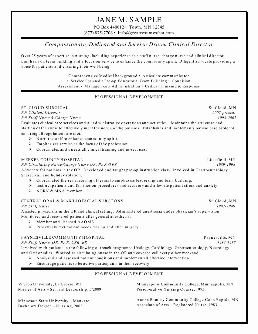 20 new grad nursing resume clinical experience with