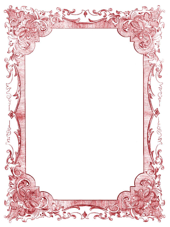 Vintage Clip Art - Romantic Frames - Christmas Colors | Pinterest ...