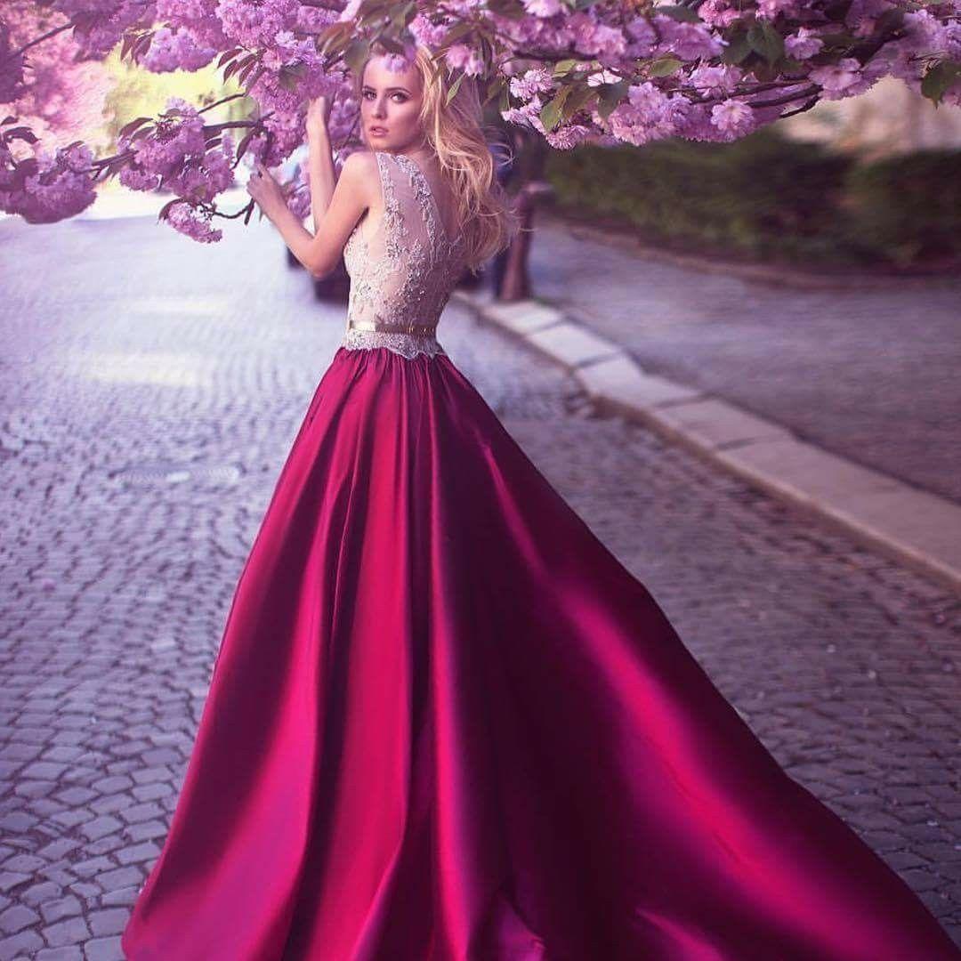 Lujoso Sonrojándose Vestido De Novia De Color Rosa Colección de ...