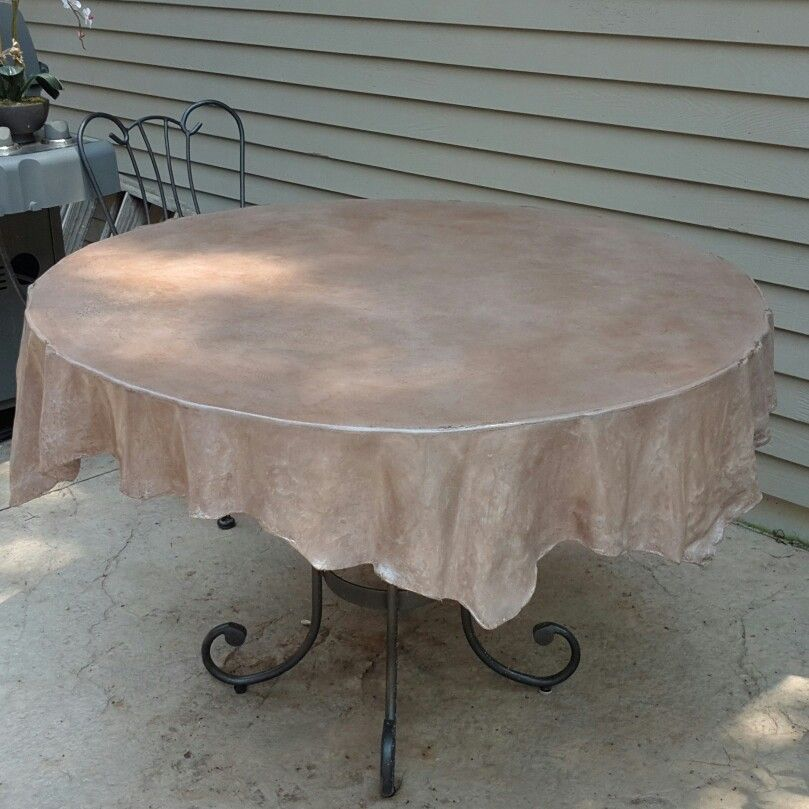 Concrete Tablecloth Got A Table With A Ugly Top