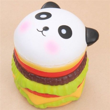 cute panda burger scented squishy kawaii