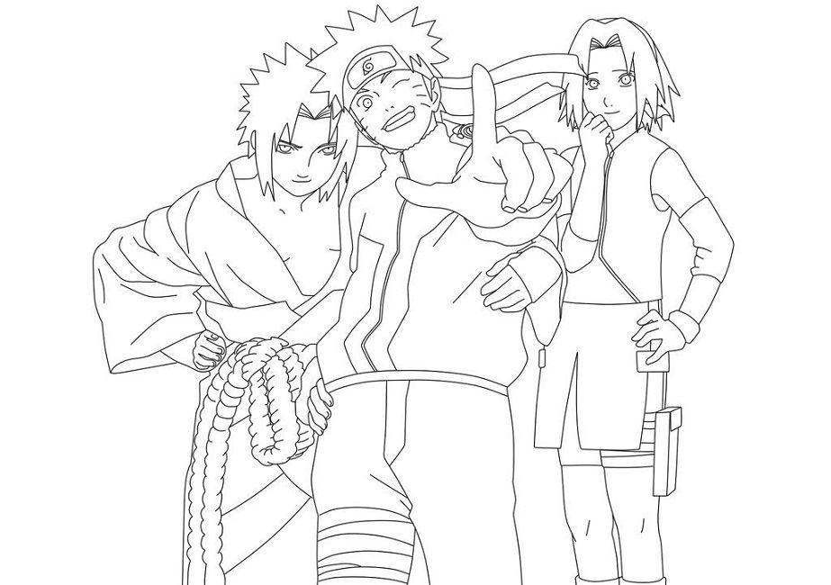 naruto coloring pages games | Coloring pages, Naruto teams ...