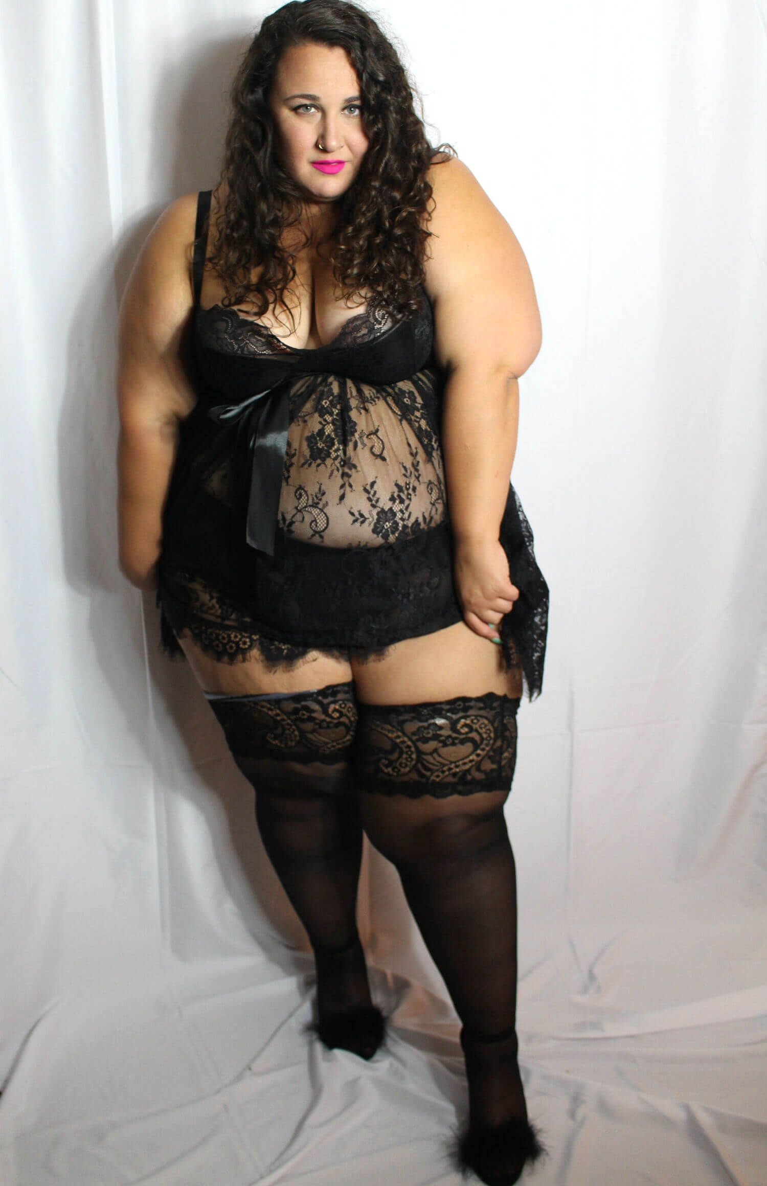 5a09b0676f4 Finally! Plus Size Stockings Up to 4X: A Glamory Hosiery Review ...