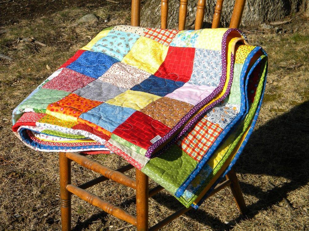 Farmhouse quilt picnic size all cotton 81 X 81 395