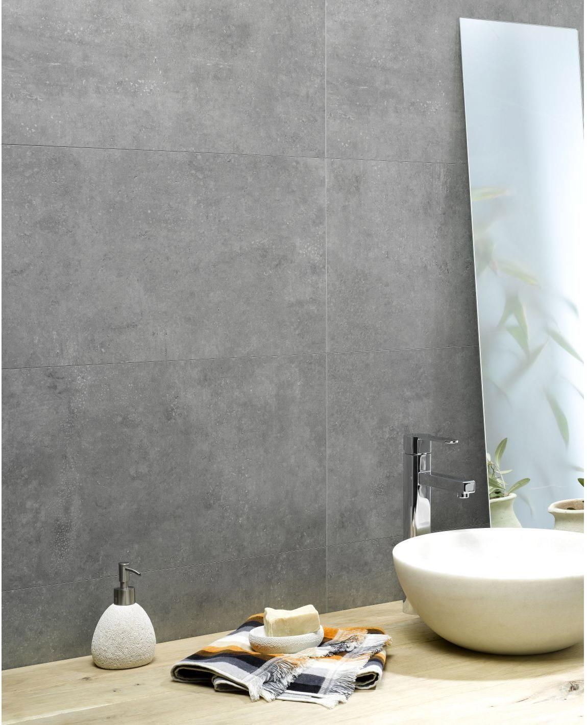 Dalle Murale Pvc Beton Clair Dumawall L 120 X L 37 5 Cm X Ep 5 Mm Dumaplast En 2020 Parement Mural Ciment Blanc Et Carreaux Muraux