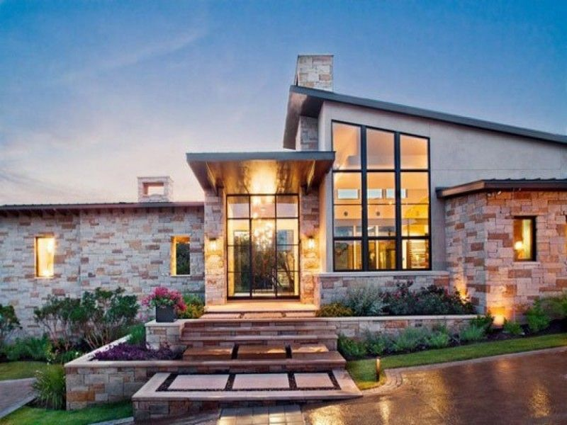 modern style meets texas hill country style home plans of Rustic