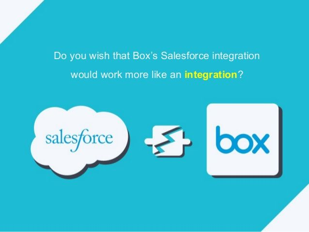 This Is Cloudhq S Integration For Salesforce With Box Evernote Salesforce Online Filing
