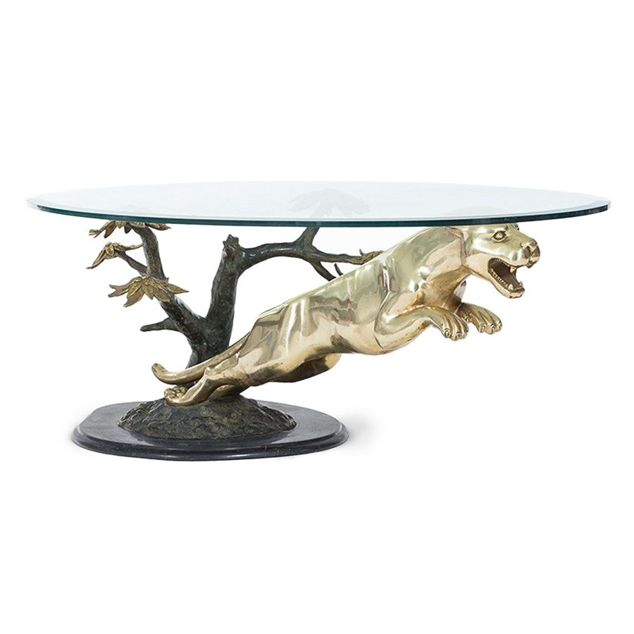 Maison jansen coffee table 1970 vintage furniture pinterest brass panther coffee table for shop with global insured delivery at pamono geotapseo Gallery