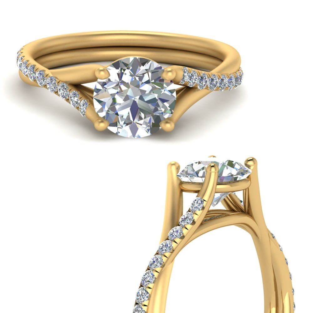 34+ Twisted shank engagement ring with wedding band info
