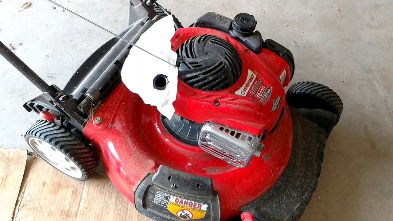 Change Oil Spark Plug Air Filter Briggs Stratton 550ex Troy Bilt Lawn Mower Service Push Mower Air Filter