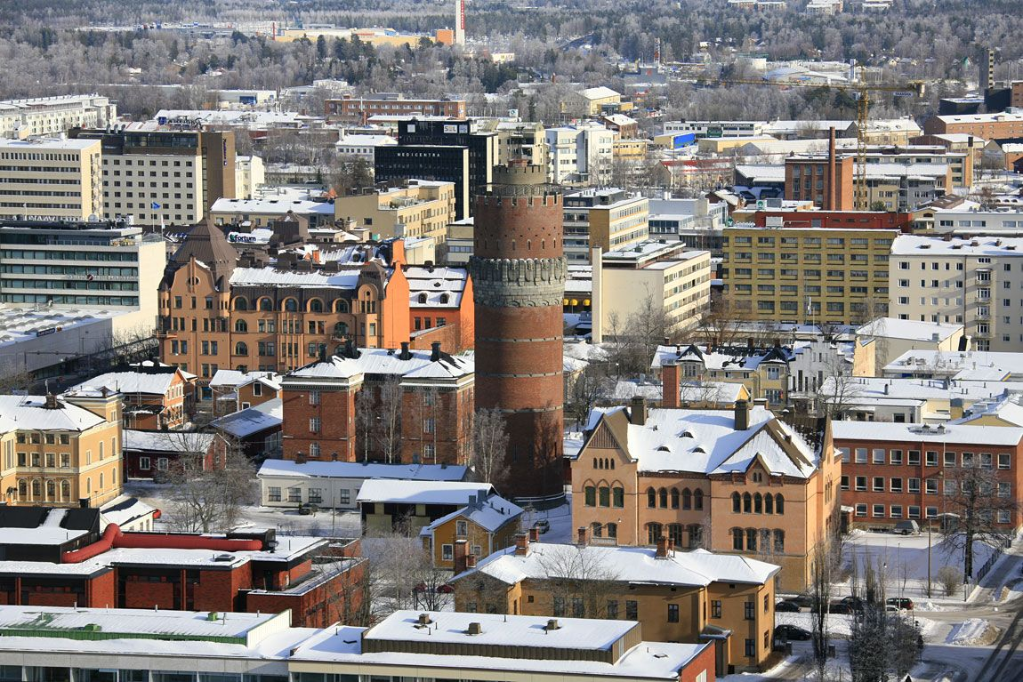 Water tower in Vaasa, Finland.